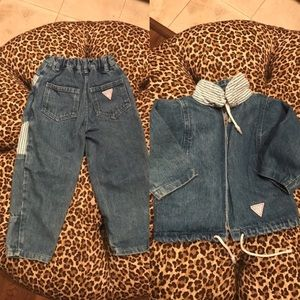 Vintage Guess Denim Jeans & Jacket 3 Y And 5 Y
